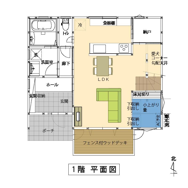 1階:平面図