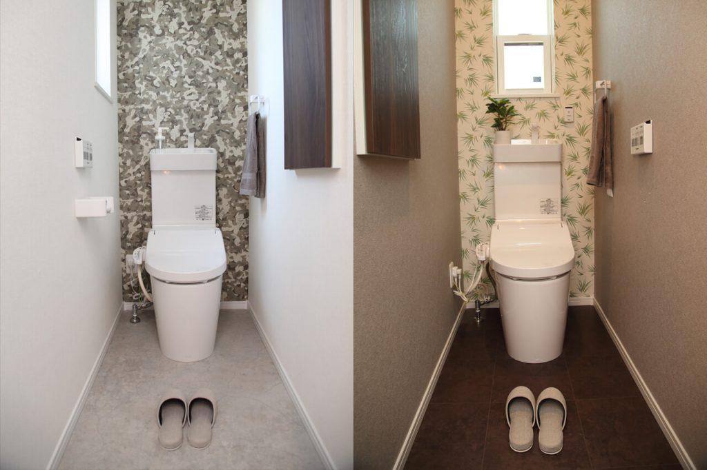 1Fと2Fにトイレ設備
