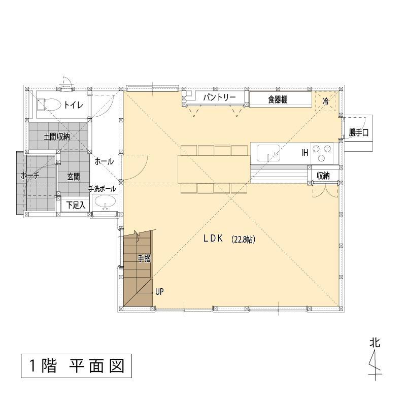 平面図:1F:ラウンジスタイル