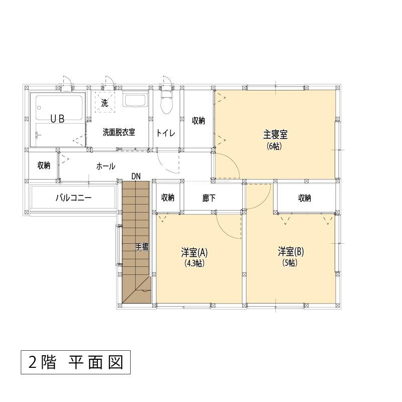 平面図:2F:ラウンジスタイル