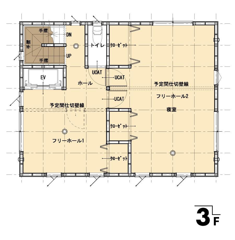 屋上のある家:平面図:3F