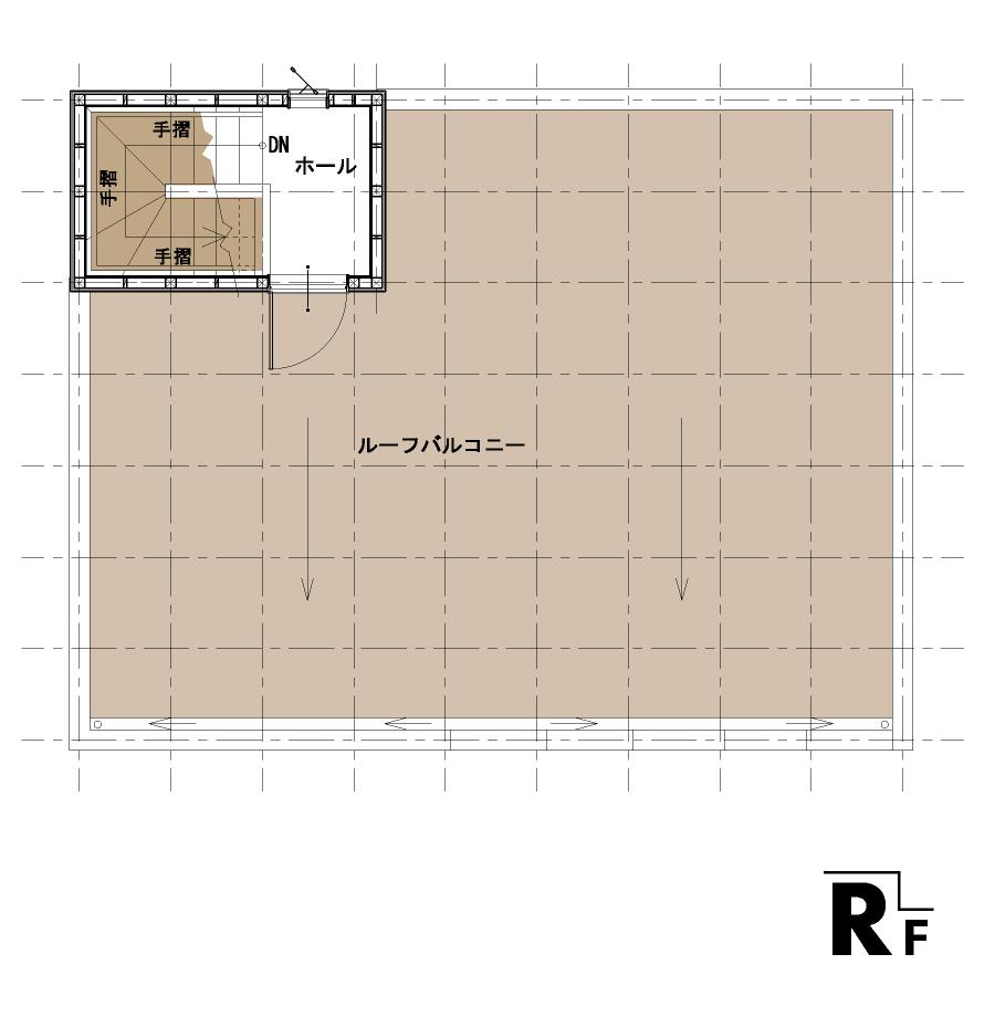 屋上のある家:平面図:RF